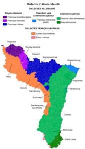Carte langues régionales