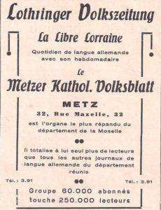 affiche pub Lothringer zeitung